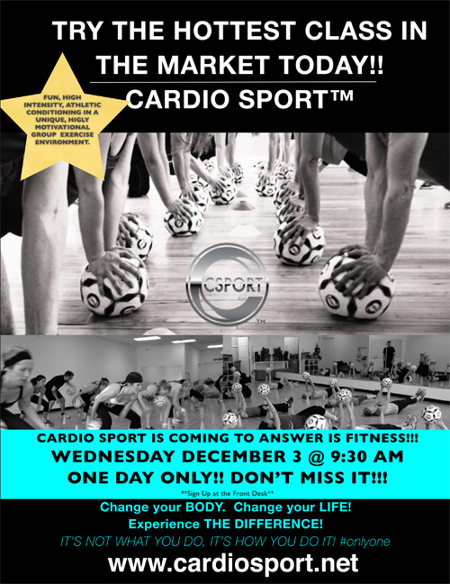 Cardio Sport is Coming to Answer is Fitness