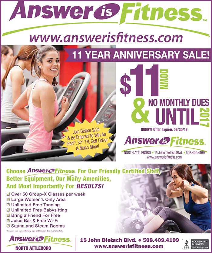Answer is Fitness 11 Year Anniversary Sale