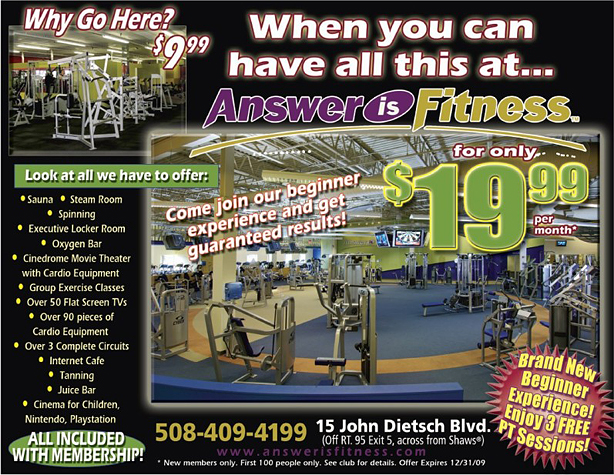 Answer is Fitness - An unbelievable offer from a REAL Fitness Club