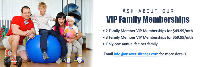 Answer is Fitness - VIP Family Memberships