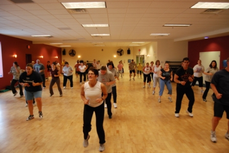Zumba Fitness Class for a Good Time Working Out and Feeling Good