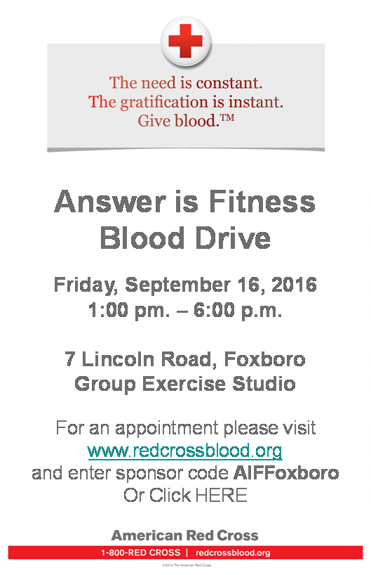 Answer is Fitness Blood Drive