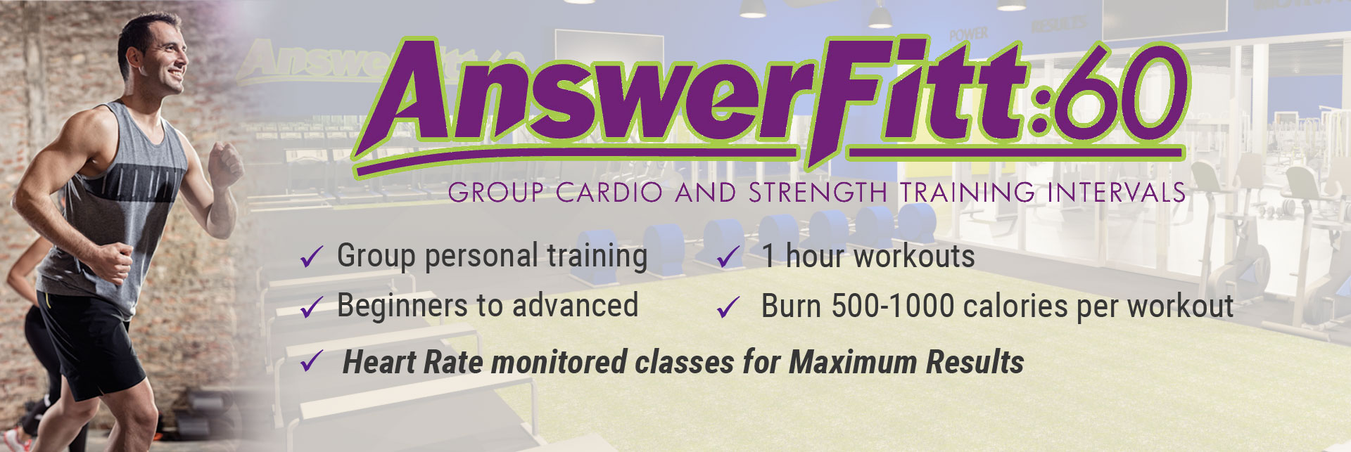 Answer is Fitness - AnswerFitt:60 - Foxboro, MA