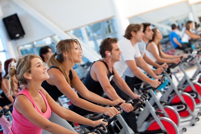 Answer is Fitness spinning cycling classes in Foxboro, MA