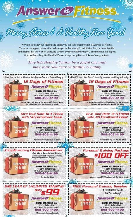 Holiday Gift Coupons - AIF
