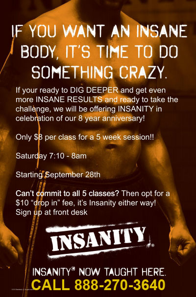 Insanity - If you want an insane body, its time to do something crazy