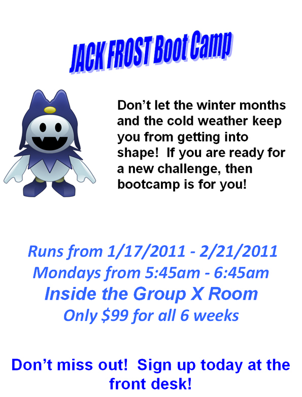 Jack Frost Boot Camp with Christine