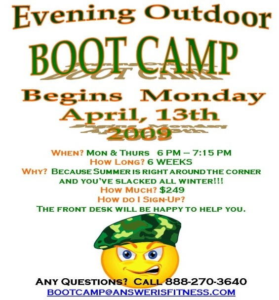 Evening Boot Camp @ Answer is Fitness
