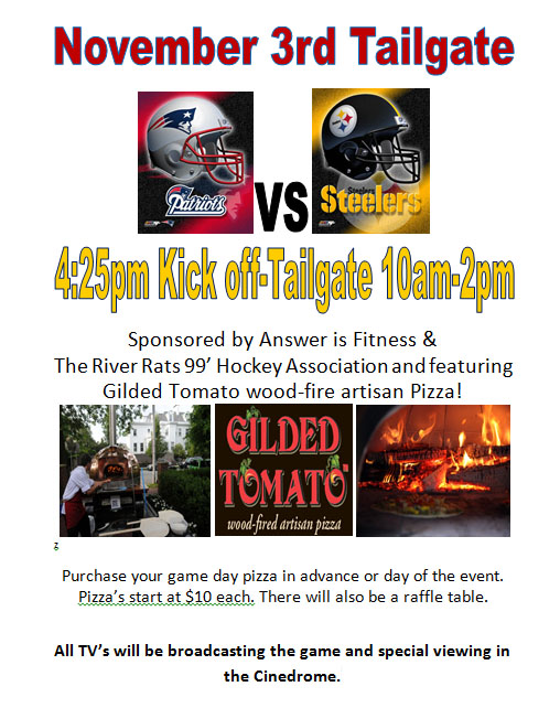 Answer is Fitness - November 3rd Tailgate