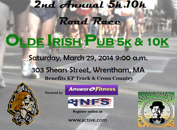 Olde Irish Pud 5k and 10k Road Race - Answer is Fitness, MA