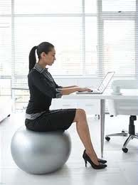 using an exercise ball as your office chair